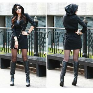 Stylish Double Front Zipper Hoodie