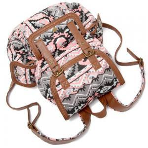 Fashion Printed Buckle Drawstring B..