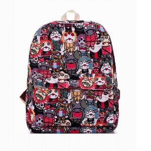 Cartoon Zombie Printed Backpack In ..