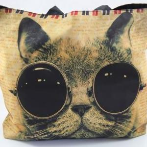 Cat W/ Steampunk Sunglasses Zippere..