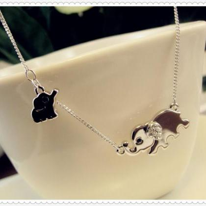 Elephant Family Necklace