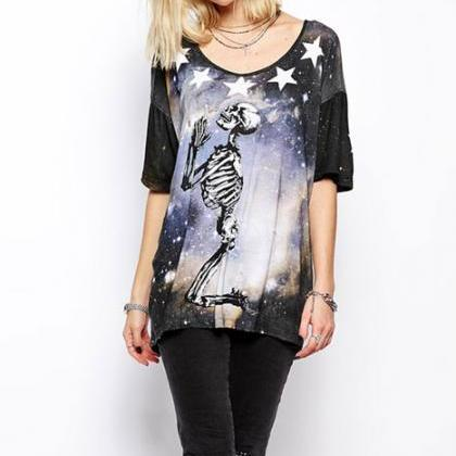 Bright Star Skull Skeleton Printed ..