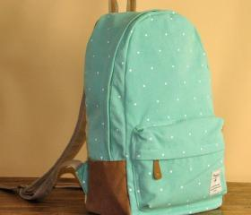 Mint Green Polka Dot..