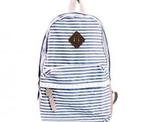 Brown Striped Backpa..