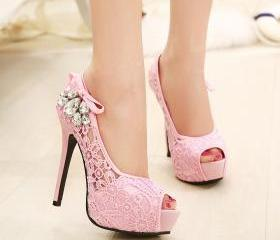High heel pastel lac..