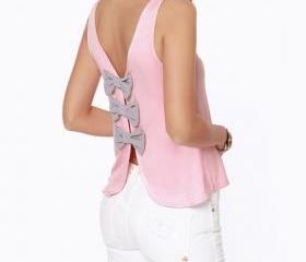 Top With Cut Out Bow..