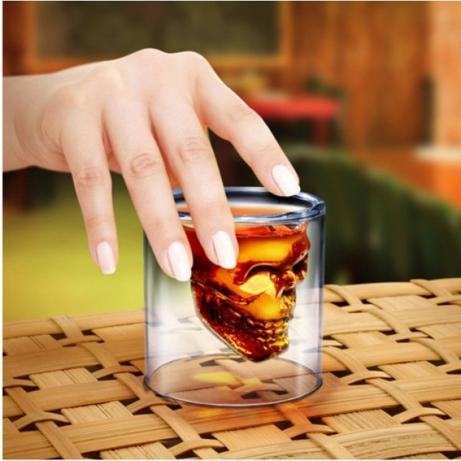 Novelty Crystal Skull Shot Glass Cup Creative Christmas Gift