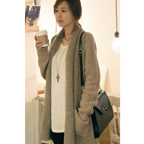 Loose Plush Knit Cardigan Sweater on Luulla