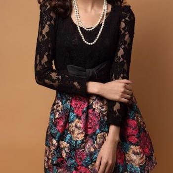 Woolen Lace Dress Fight A