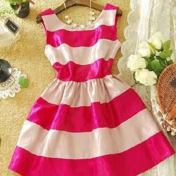 Sexy Sweet Striped Dress-887 A