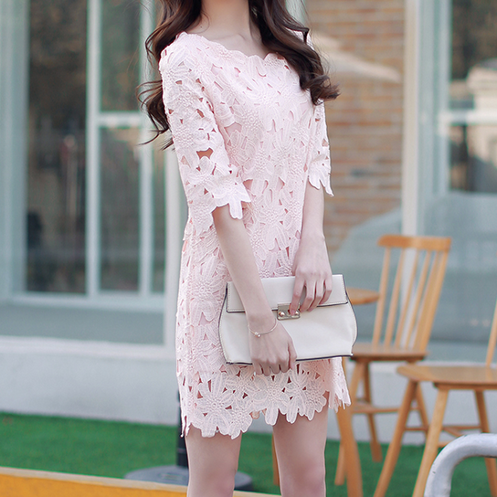 Loose Was Thin Lace Dress